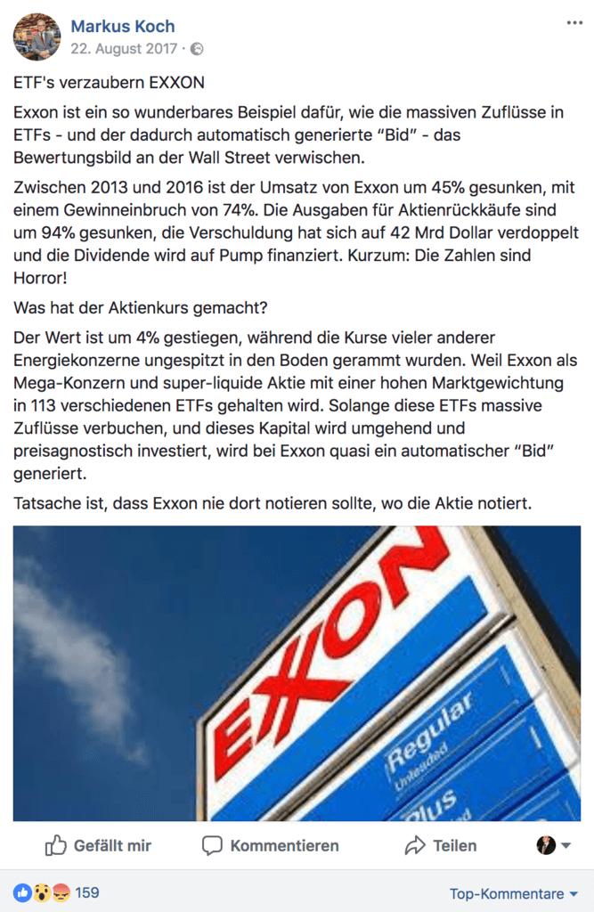 Markus Koch ETF Risiko Nachteile