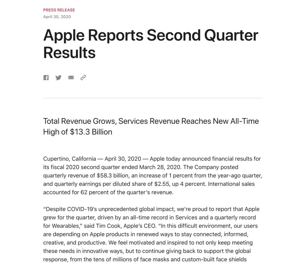 Aktienanalyse - Strategie - Apple Shareholder Letter